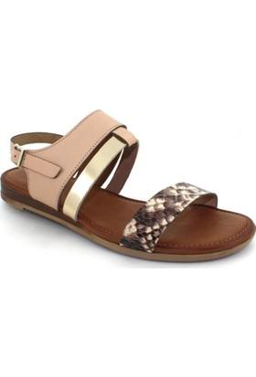Drexel Pudra Deri Kadın Sandalet