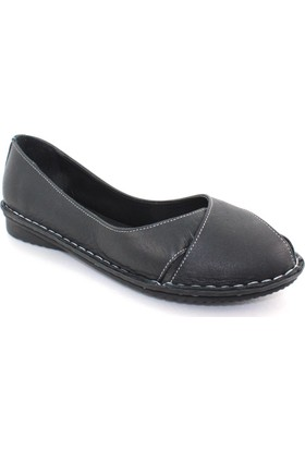 Güven Ventes 3192003 Siyah Günlük Deri Kadın Ayakkabı