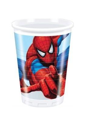Siyah Lale Spiderman Örümcek Adam Karton Bardak 8 Adet