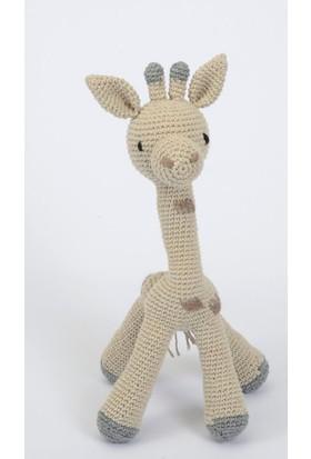 Hay Antibakteriyal İpli Oyuncak Zürafa