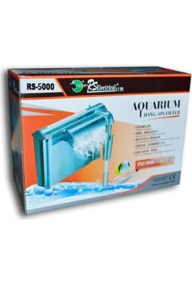 Rs 5000 Slim Akvaryum Askı Şelale Filtre 280 Litre / Saat