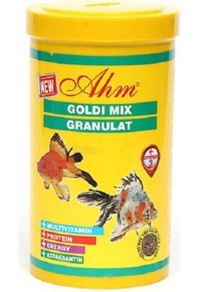 Ahm Goldi Mix Granulat - Japon Balığı Yemi 1000 Ml