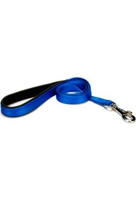 Doggie Dokuma Softlu Köpek Gezdirme Kayışı Mavi Dgzt-20