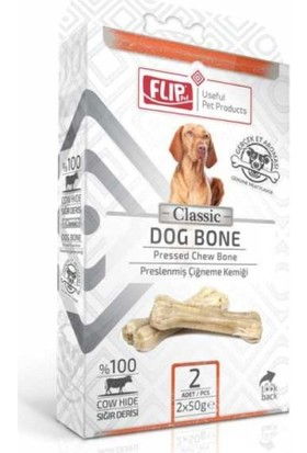 Flip Beyaz Press Köpek Çiğneme Kemiği 50 Gr 2 Li Paket