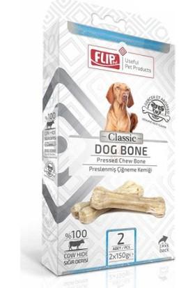 Flip Beyaz Press Köpek Çiğneme Kemiği 150 Gr 2 Li Paket
