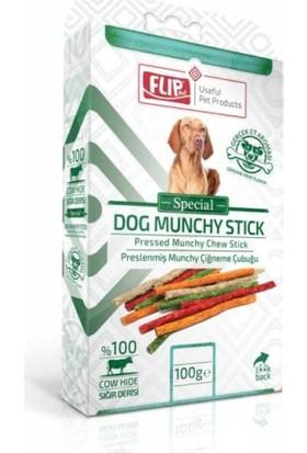 Flip Renkli Munchy Köpek Kemirme Ödül Çubuk 100 Gr