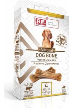 Flip Natural Press Köpek Çiğneme Kemiği 25 Gr 4 Lü Paket