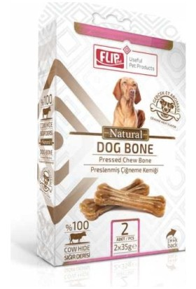 Flip Natural Press Köpek Çiğneme Kemiği 35 Gr 2 Li Paket