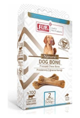 Flip Natural Press Köpek Çiğneme Kemiği 50 Gr 2 Li Paket