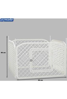Plastik Çit Köpek Oyun Alanı 90 Cm X 90 Cm Kare 60 Cm Yükseklik