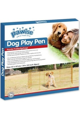 Pawise Köpek Oyun Alanı Çiti 60 Cm X 60 Cm 8 Parça