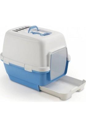 Stefanplast Cathy Clever Çekmeceli Kapalı Tuvalet Kabı Mavi Beyaz