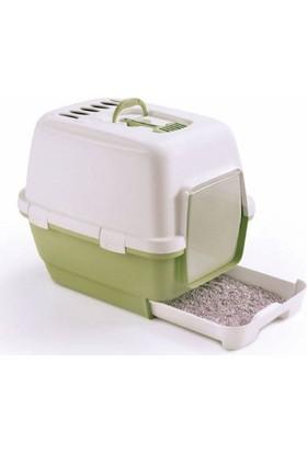 Stefanplast Cathy Clever Çekmeceli Kapalı Tuvalet Kabı Yeşil Beyaz