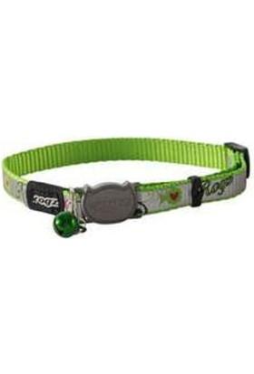 Rogz Reflectocat Yeşil Balık Desenli Fosforlu Kedi Boyun Tasması