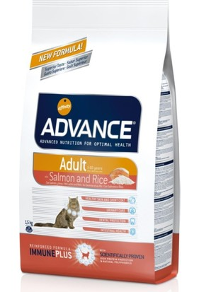 Advance Cat Somonlu Pirinçli Yetişkin Kedi Maması 1.5Kg