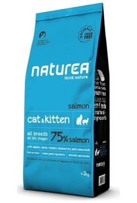Naturea Cat & Kitten Salmon Somonlu Tahılsız Kuru Kedi Maması 2 Kg