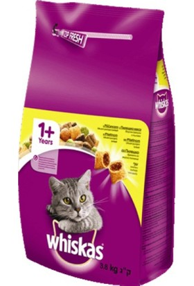 Whiskas Tavuklu Yetişkin Kuru Kedi Maması 3,8 Kg