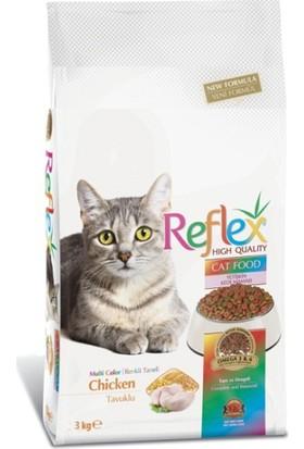 Reflex Tavuklu Renkli Yetişkin Kedi Maması 3 Kg