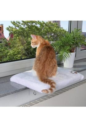 Trixie Kedi İçin Cam Önü Oturma Platformu Beyaz 51 Cm X 36 Cm