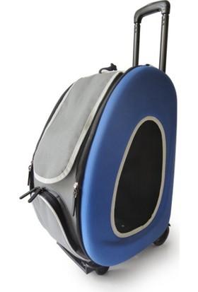 Innopet Tekerlekli Kedi Köpek Taşıma Çantası Mavi