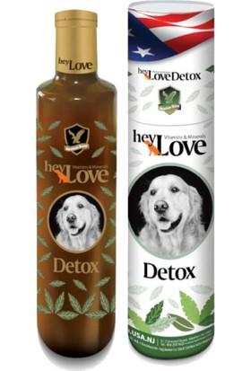 Hey Love Detox Doğal Minarel Ve Vitaminli Köpek Sıvı Desteği 480 Gr