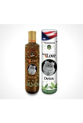 Hey Love Detox Doğal Minarel Ve Vitaminli Kedi Sıvı Desteği 480 Gr