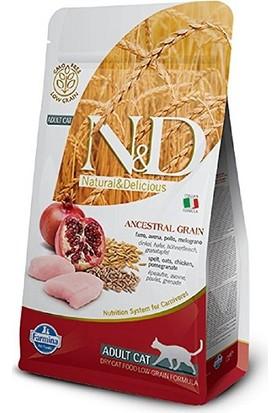 N&D Düşük Tahıllı Tavuklu Ve Narlı Yetişkin Kedi Maması 5 Kg