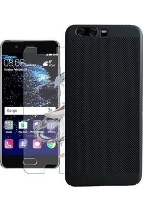 KılıfShop Huawei P10 Plus Fileli Silikon Kılıf + Ekran Koruyucu