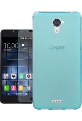 KılıfShop Casper Via E2 Slim Silikon Kılıf + Ekran Koruyucu