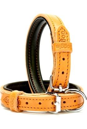 Doggie Yumuşak Deri Pedli Fırstclass Boyun Tasması Kamel 1,5 X 30 cm