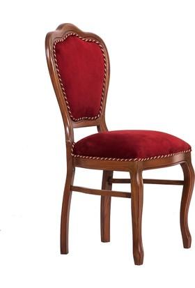 3A Mobilya Bordo Oymaşı Sandalye - Bordo