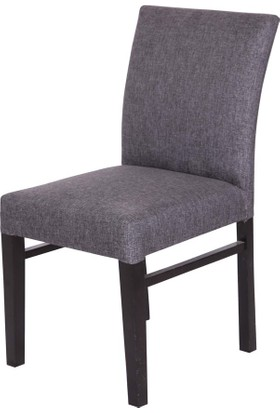 3A Mobilya Antrisit Gri Keten New Sandalye