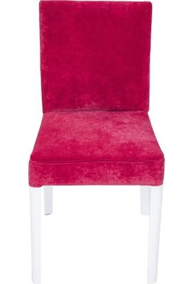 3A Mobilya Kırmızı Kadife Sandalye