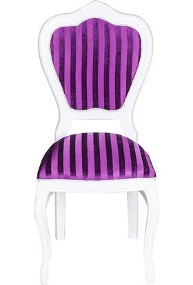 3A Mobilya Fuşya Oymalı Sandalye - Fuşya