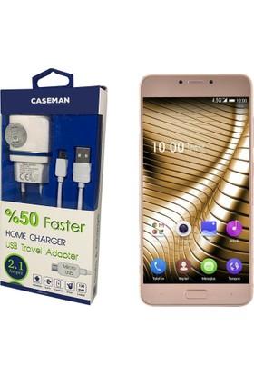 Case Man Casper Via A1 Plus Şarj Cihazı Seyahat Tipi Adaptör + Data Kablosu Hızlı Şarj Özellikli