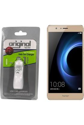 Case Man Huawei Honor V8 Araç Şarj Cihazı Hızlı Şarj Özellikli Adaptör