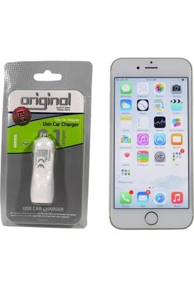 Case Man Apple iPhone 6s Araç Şarj Cihazı Hızlı Şarj Özellikli Adaptör