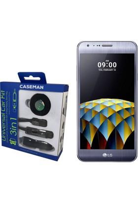 Case Man LG X Cam Araç Şarj Cihazı + Telefon Tutucu + Kablo 3in1 Araç Kiti
