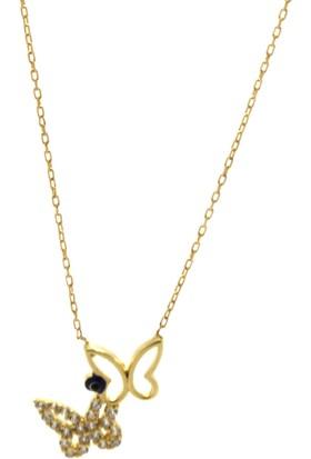 Tesbihcizadem 14 Ayar Altın Kolye ,Kelebek Model 1585