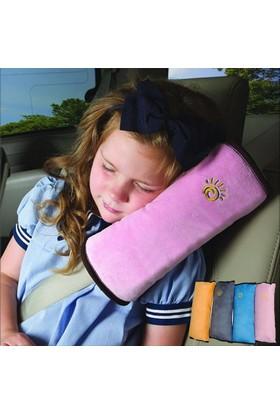 Hsc Yumuşak Emniyet Kemeri Yastığı Baş Desteği Boyun Ve Kafa Destekleyen Yastık Pembe