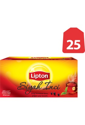 Lipton Bardak Poşet Çay Siyah İnci 25'Li