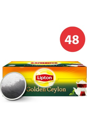 Lipton Demlik Poşet Çay Golden Ceylon 48'Li