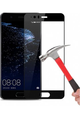 Dafoni Huawei P10 Plus Curve Tempered Glass Premium Full Cam Ekran Koruyucu