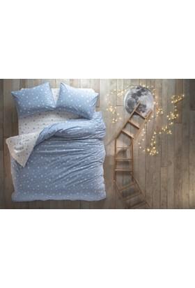 Hibboux Dream Like A Star Ranforce Tek Kişilik Nevresim Takımı - Blue 160X220-30 Gün Deneme Süresi