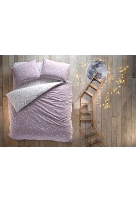 Hibboux Dream Like A Star Ranforce Çift Kişilik Nevresim Takımı - Lavender Grey 200X220-30 Gün Deneme Süresi