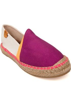 Lumberjack Disco Mor Beyaz Kadın Espadril Ayakkabı