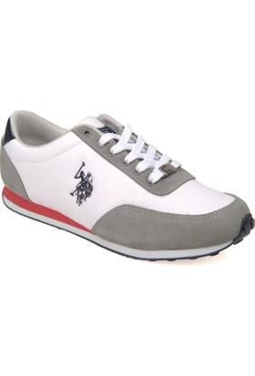 U.S. Polo Assn. Erkek Ayakkabı 7122P Paci M Beyaz