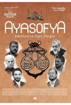 Ayasofya Dergisi Sayı 18- Özel Ayasofya Sayısı