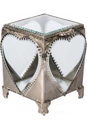 Vitale Kalp Desen Metal Kenarlıklı Cam Kutu