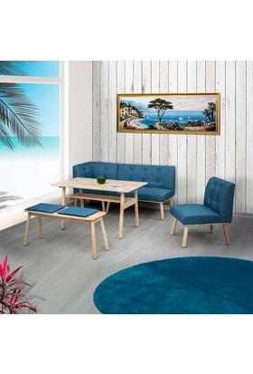 Vitale Corner Masa Sandalye Seti Mavi